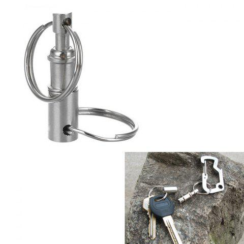 Outdoor Detachable Double Side Key Ring Keychain - SILVER