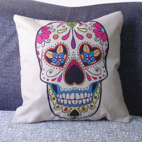 Modern Skull Pattern Square Pillowcase(Without Pillow Inner) - COLORMIX