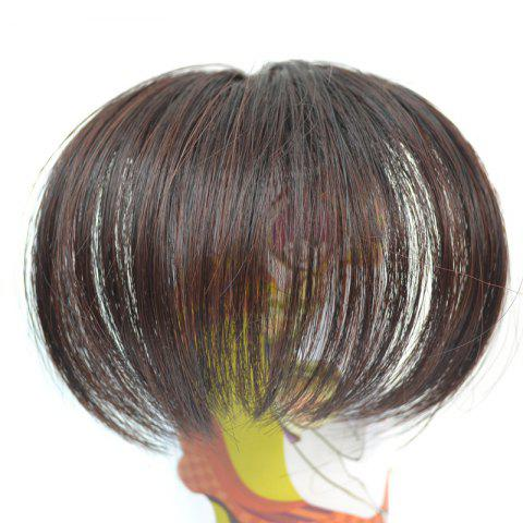 Nobby Shaggy Synthetic Straight Clip In Capless Ultrathin Women's Full Bang - BROWN BLACK MIXED 2/33