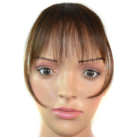 Trendy Ultrathin Capless Stunning Clip In Synthetic Women's Full Bang With Sideburns - BROWN 2/30