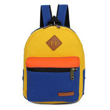 Trendy Zipper and Colour Block Design Backpack For Women
