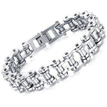 Motorcycle Chain Shaped Bracelet - WHITE ONE-SIZE