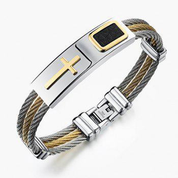 Cross Cable Wire Layered Bracelet