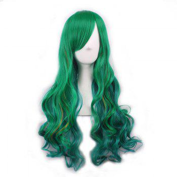 Fluffy Long Wavy Synthetic Two-Tone Ombre Gorgeous Side Bang Harajuku Cosplay Wig For Women - OMBRE