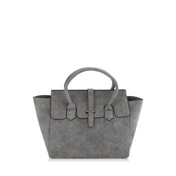Charming Stitching and Solid Color Design Women's Tote Bag
