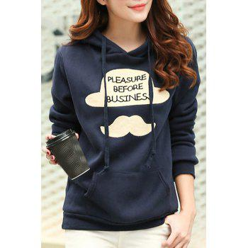 Women's Trendy Long Sleeve Hooded Letter Color Block Hoodie