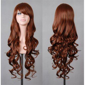 Fluffy Wavy Assorted Color Harajuku Long Fashion Side Bang Synthetic Women's Cosplay Wig