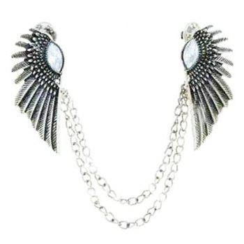 Wing Sweater Guard Brooch -  SILVER