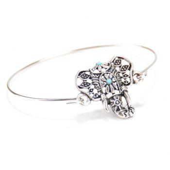Retro Hollow Out Totem Elephant Bracelet