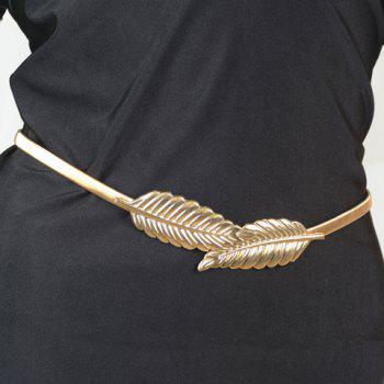 Delicate Solid Color Leaf Stretchy Belly Chain For Women