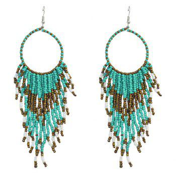 Pair of Classic Beads Tassel Hollow Out Earrings For Women