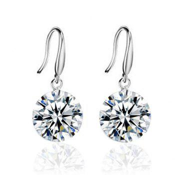 Pair of Zircon Rhinestone Drop Earrings