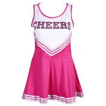 Active Scoop Neck Sleeveless Letter Print Cheerleader Dress For Women