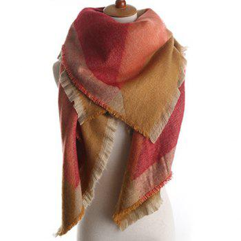 Chic Geometric Pattern Fringed Edge Women's Winter Pashmina