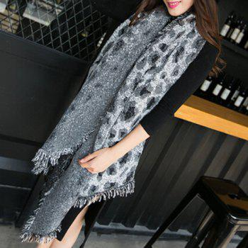 Chic Leopard Pattern Tassel Multifunctional Women's Winter Scarf