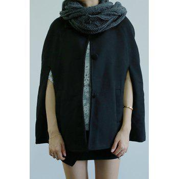 Chic Turn-Down Neck Loose-Fitting Pocket Design Women's Coat