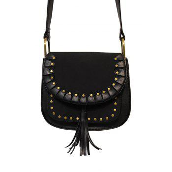 Vintage Tassel and Splicing Design Women's Crossbody Bag