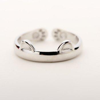 Kitten Shape Cuff Ring