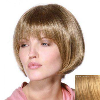 Bob Style Short Stunning Full Bang Capless Stylish Straight Women's Real Human Hair Wig