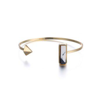 Punk Geometric Cuff Bracelet - GOLDEN