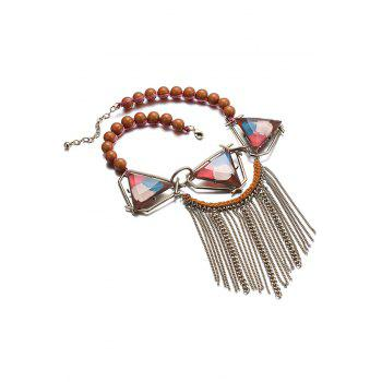 Tassel Triangle Necklace For Women - COLORFUL