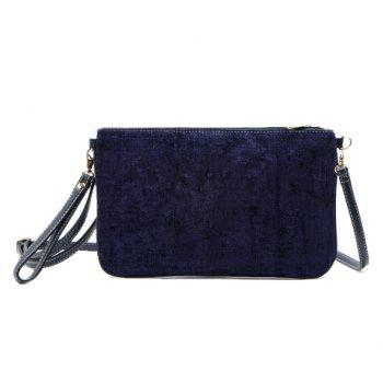Trendy Corduroy and Solid Color Design Women's Clutch Bag - PURPLE PURPLE