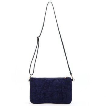 Trendy Corduroy and Solid Color Design Women's Clutch Bag -  PURPLE
