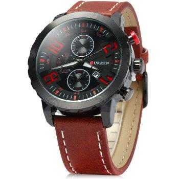 Curren 8193 Big Numbers Quartz Watch with Date Display for Men