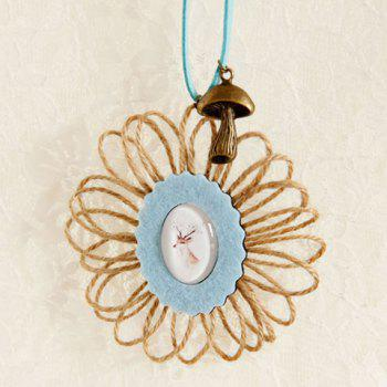 Chic Oval Deer Sweater Chain For Women - AZURE