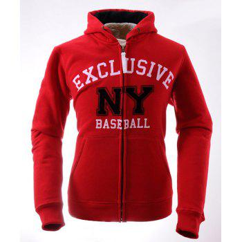 Vogue Drawstring Hooded Letters Print Front Pocket Rib Spliced Slimming Men's Long Sleeves Hoodie
