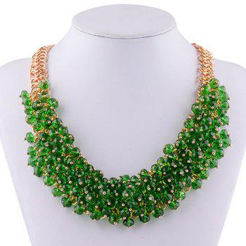 Luxury Layered Faux Crystal Necklace For Women