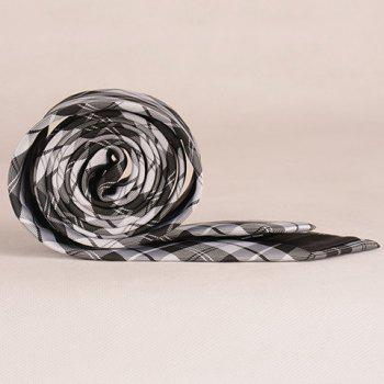 Stylish White and Black Tartan Pattern 6.5CM Width Men's Tie -  WHITE/BLACK