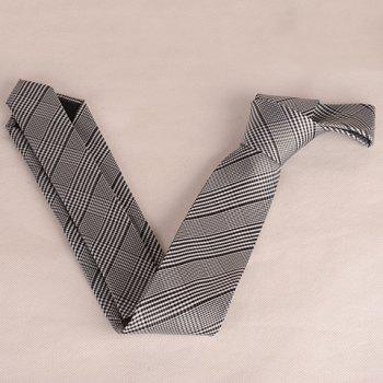 Stylish Houndstooth Pattern 6.5CM Width Men's Tie -  SILVER GRAY