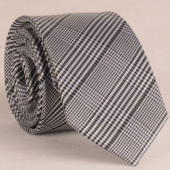 Stylish Houndstooth Pattern 6.5CM Width Men's Tie - SILVER GRAY SILVER GRAY
