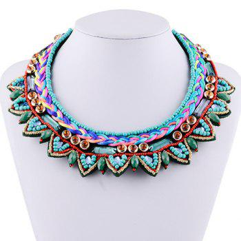 Vintage Faux Crystal Layered Beads Women's Necklace