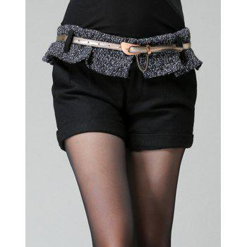 Stylish High Waist Flounce Shorts For Women