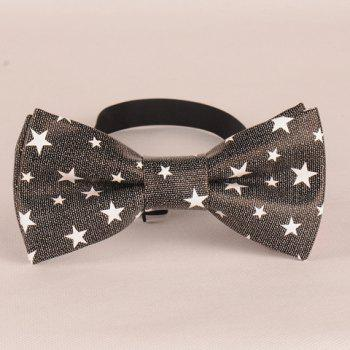 Stylish Five-Pointed Star Pattern Men's PU Bow Tie - DEEP GRAY DEEP GRAY