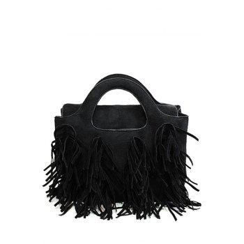 Fashion Tassel and Suede Design Women's Tote Bag