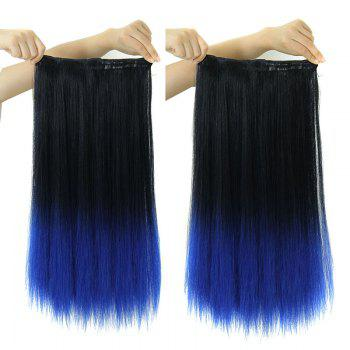 Vogue Long Synthetic Clip-In Two-Tone Ombre Capless Glossy Straight Women's Hair Extension