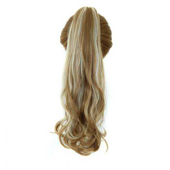 Shaggy Wavy Synthetic Graceful Long Capless Assorted Color Clip In Women's Ponytail
