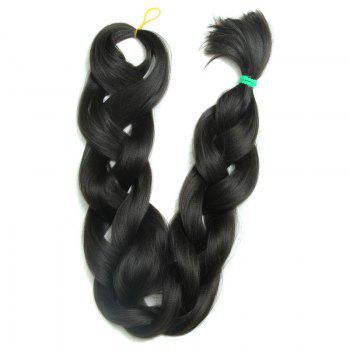 Charming Extra Long Fashion Handmade Tied Synthetic Women's Big Braids Hair Extension - BLACK