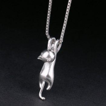 Alloy Kitten Shape Pendant Necklace