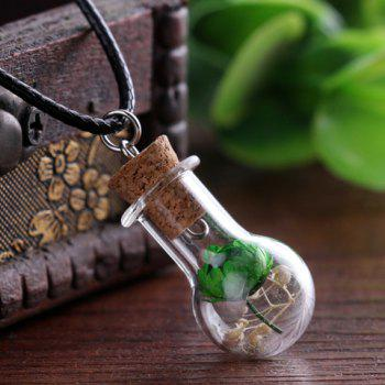 Dried Flower In Glass Shape Pendant -  RANDOM COLOR