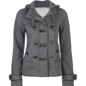 Hooded Wool Blend Duffle Coat