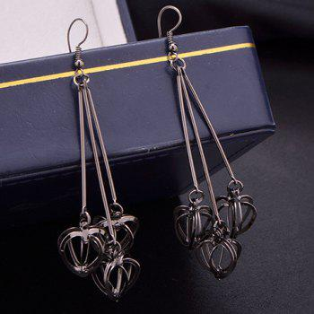 Stereoscopic Hollow Out Heart Drop Earrings