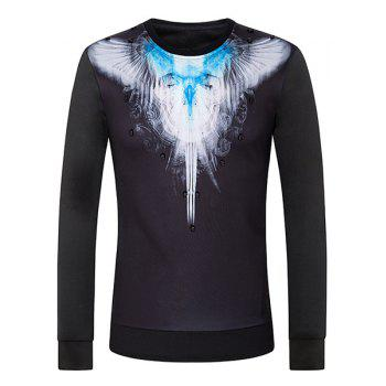 3D Wing Print Round Neck Long Sleeve Men's Sweatshirt