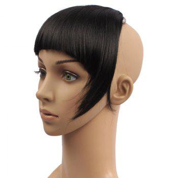 Outstanding Straight Clip In Fluffy Heat Resistant Synthetic Full Bang With Sideburns For Women - B