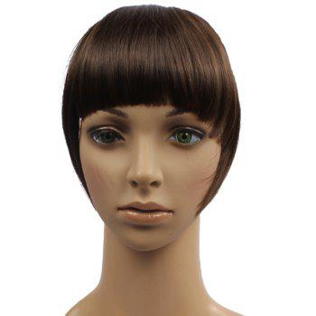 Trendy Straight Capless Assorted Color Clip In Synthetic Women's Full Bang With Sideburns - BROWNISH RED 6K# BROWNISH RED K