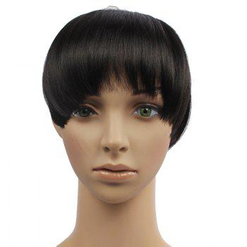 Stylish Fluffy Straight Heat Resistant Synthetic Clip-In Capelss Women's Full Bang