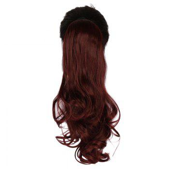 Fluffy Wavy Long Capless Charming Assorted Color Synthetic Women's Ponytail